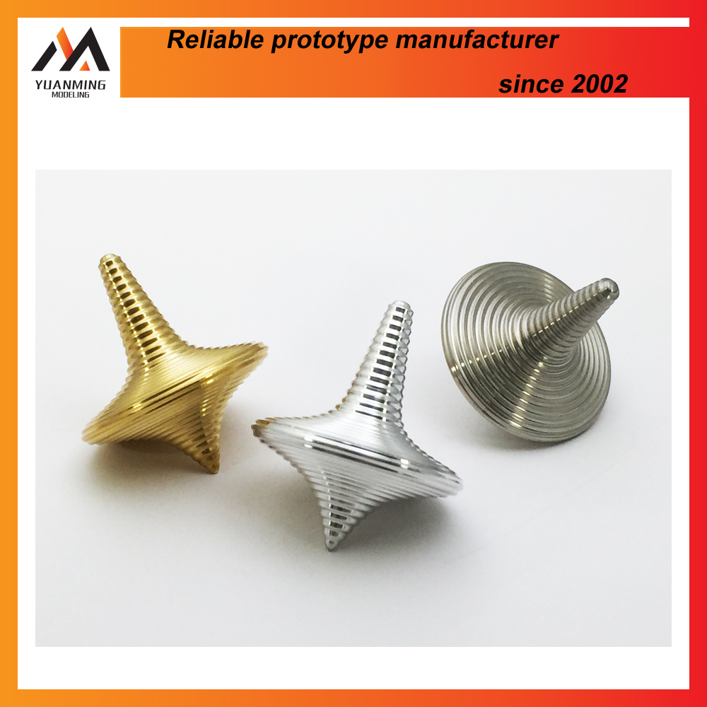 CNC machining lathe spinning top balanced metal stainless steel toy cone