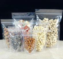 Custom Printed Stand Up Food Pack Resealable Plastic Zipper Bag