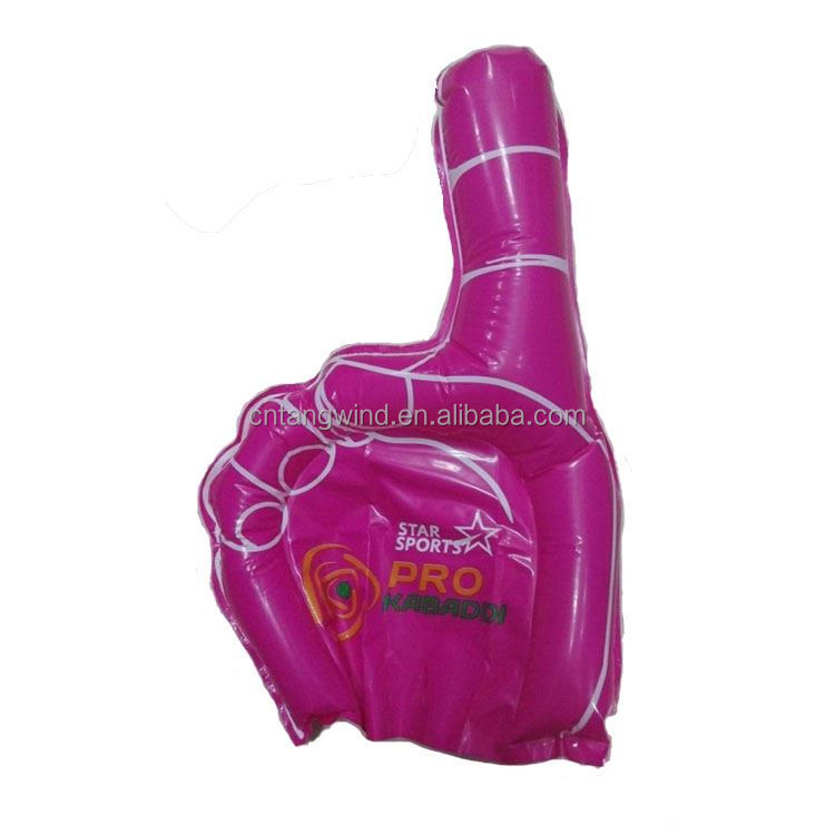 Modern style excellent quality football fan pvc cheap inflatable hand