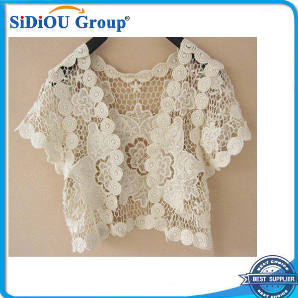 women fashion crochet lace bolero jacket