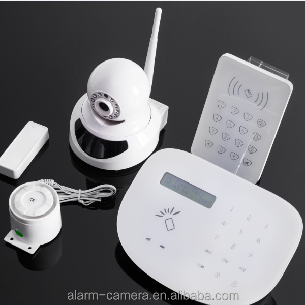 2016 Newest self defense smart GSM security alarm system with download google play store and apple store APP +home automation