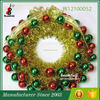 Artificial Christmas Wreath PET Wreath Decorated