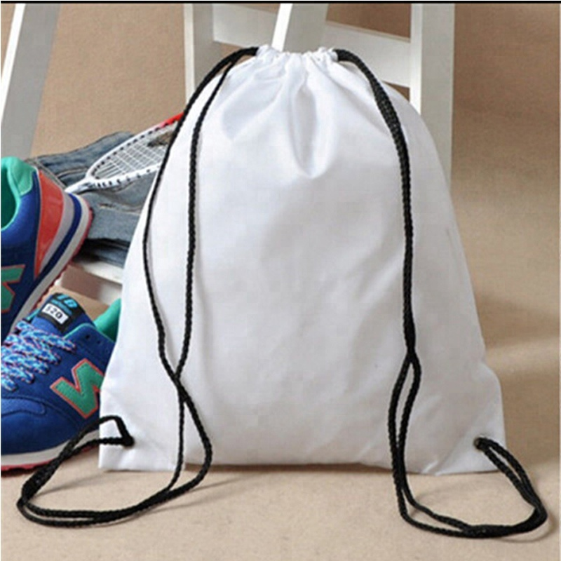 Factory for Canvas China Sack Backpack Drawstring Tote Bag Red Trim