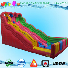 25ft tall commercial giant three lane inflatable rainbow water slide for sale, big water slides for adults n kids party rentals