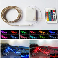 Christmas Lamp LED Strip Light with Battery Pack Remote Controller for Holiday Party DIY flexible waterproof