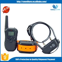 Rechargeable and Waterproof 300meters Remote Electric Shock Anti-bark Pet Dog Training Collar with LCD display