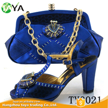italian shoe and bag set/ladies shoes and matching bags in blue