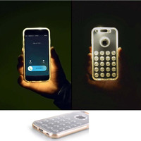 Calling led light flash pc phone case for iphone 5/5s/5se