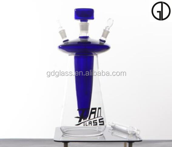 borosilicate all colored glass hookah with silicon hose