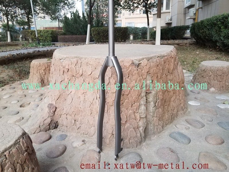 2017 new design!!!titanium mtb bicycle fork Titanium mountain bike fork Ti mtb fork custom