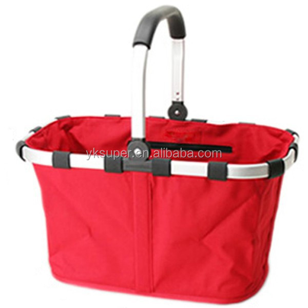 Folding Picnic Camping Insulated Cooler Cool Hamper Basket
