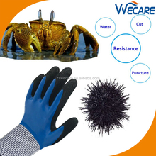 Water Resistant Level 5 Hand Protection Safety Work Double Nitrile Coating Cut Resistant Gloves