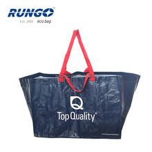 2017 fasion double handle boat shape recycled pp non woven laminated tote jumbo bag shopper