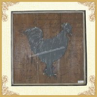 Country style wall decor,cock brown