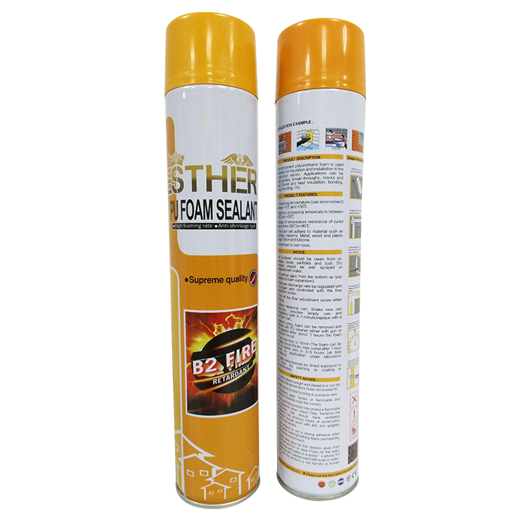 Cheap custom high foaming, high strength Fire Rated B2, B1 FR PU Foam Sealant
