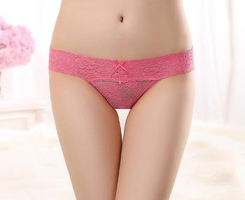 Wholesale lace girls panties T back plain underwear