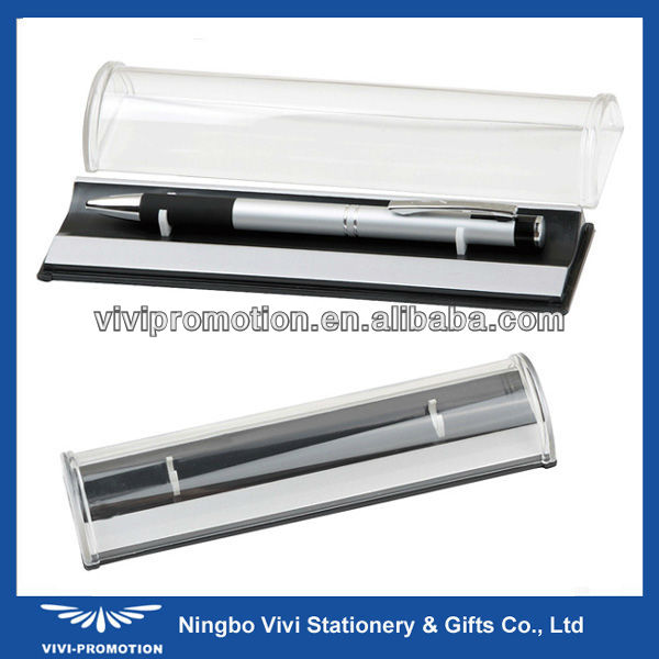 Popular Plastic Gift Pen Box with Clear Lid (BX001)