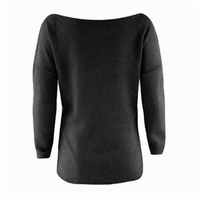 Fashion New Arrival Women T Shirt Inclined Shoulder Long Sleeve Blouse