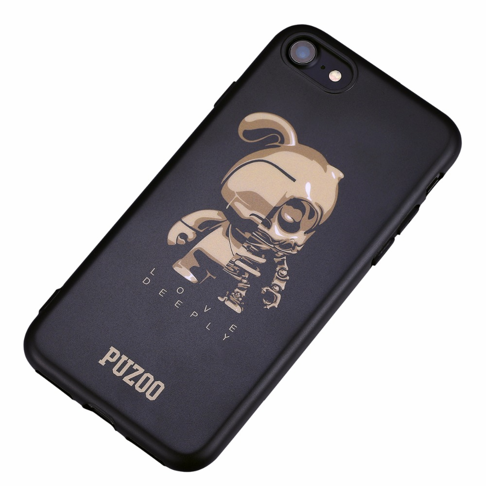 PUZOO tpu case cellphone , ultra thin soft Tpu for iphone case,for iphone 7 case cover tpu stock