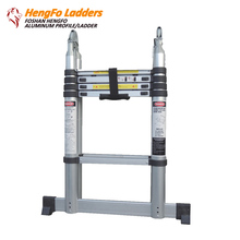 3.2m FOLDING CLIMB LADDER ALUMINIUM TELESCOPIC LADDER STEP LADDER