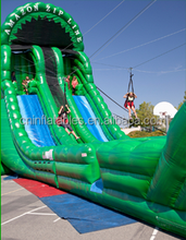 New Design Inflatable Zip Line /large inflatable slide