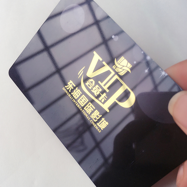 Custom PVC/PET/ABS/Transparent pvc business cards hot stamping printing