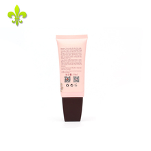 China factory Customized pink city block sheer cosmetic packaging tube with dark cap