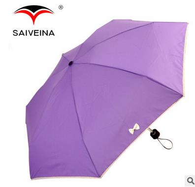 Wholesale mini portable 21 inch lovely bowknot sunshade pocket 5 folding umbrella