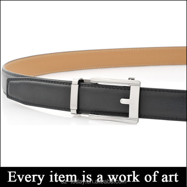 Genuine lether cowhide men fashion belts with copper brass buckle hith quality