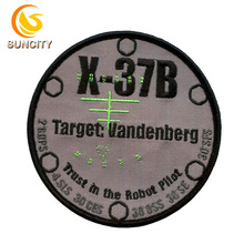 Hotsale Custom Logo Patch Traget Vandenberg Trust in the Robot Pilot Design Embroidery Patch With Iron on For Uniform