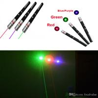 Powerful 5mW 532nm 650nm 405nm 455nm Green Blue Purple Red Light Lights Beam Laser Pointer Pen Pens Pointers Lasers