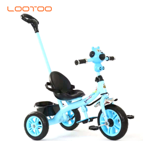 2-6 years old toy 10 inch bike kids three wheel / children tricycle with trailer / metal baby tricycle