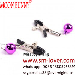 1 Pair Bell Nipple Clamps Breast Clip Sex Products Shaking Stimulate Milk Sex Clip Overcast Female Massager