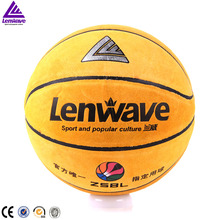 Lenwave brand 2016 style cowhide basketball in bulk