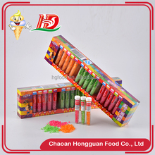 Delicious sour sweets box packing multi-color mini fruit hard candy