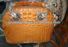 Deluxe exotic lady real crocodile skin handbags