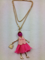 stock dressed puppet doll pendant necklace jewlery