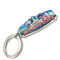 Boston Souvenirs Printed Foil Paper Charms USA Souvenir Keychain Metal Boston Keychain