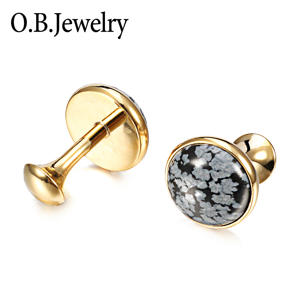 OB JEWELRY Deluxe Steampunk Cufflinks Vintage Watch Movement Shape Cufflinks For Men/Lover/Friends/Wedding/Anniversaries/Birthd
