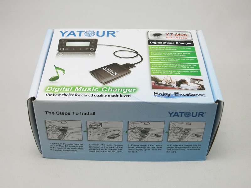 Yatour yt-m06 car usb adapter mp3 aux interface/car stereo usb sd mp3 adapter