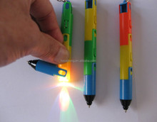 popular promotional gifts pen & folding ball pen with light