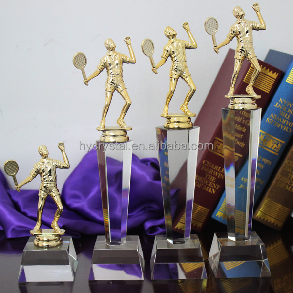 New sports souvenir crystal tennis ball trophy awards