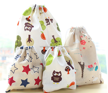 Cheap Personalized Quality Color Printed Cotton Tote Bag Excellent Draw String Bag