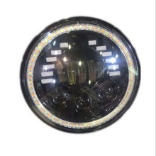 UnionTech UT-0860Y spot drving light with angel eyes for Jeep Wrangle 7inch led headlight
