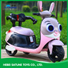 New model rabbit police officer Judy kids electric motorcycle 6V for kids ride on baby electric motorcycle
