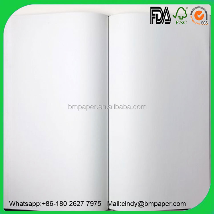 70gsm 80gsm 90gsm 100gsm Uncoated White Coupon Bond Offset Paper Roll