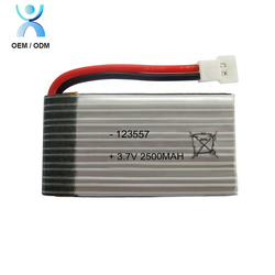 Factory 3.7V 2500Mah Lithium Polymer Lipo Li Ion Battery,123557 2500Mah Li-Ion Li-Polymer Battery
