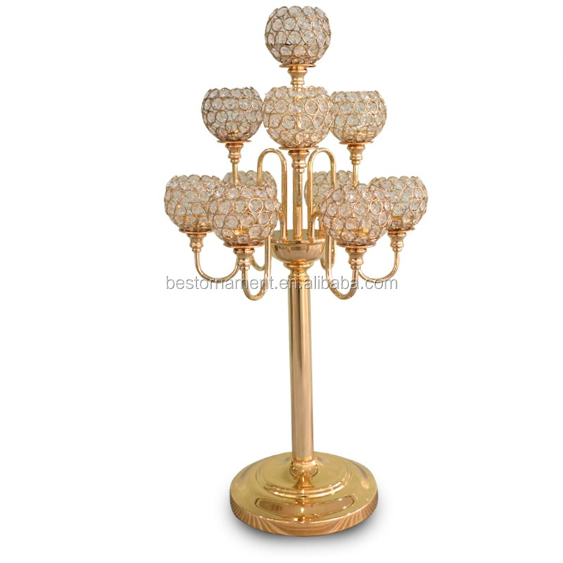 9 Arms Wedding Crystal Table Candelabra Centerpiece For 2016 Wedding Decor