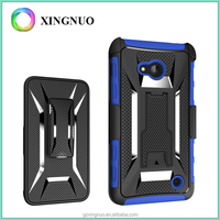 3 in 1 T-Shape Kickstand Heavy Duty Armor Belt Clip Holster Combo mobile Phone Cases For microsoft lumia 640