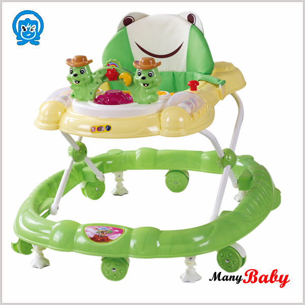 All in one frog baby walker adjustable height